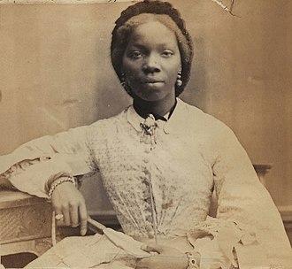 Sara Forbes Bonetta - Sara Forbes Bonetta photographed by Camille Silvy in 1862