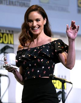 Sarah Wayne Calliesop de San Diego Comic-Con International 2016.