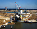 Saturn V S-II hoisted onto Test Stand - GPN-2000-003015.jpg