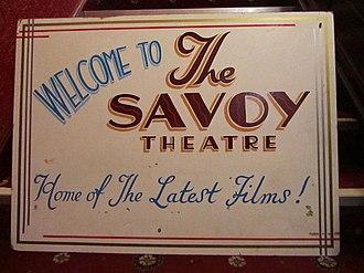 Savoy Theatre, Monmouth - Image: Savoy Theatre Monmouth, sign