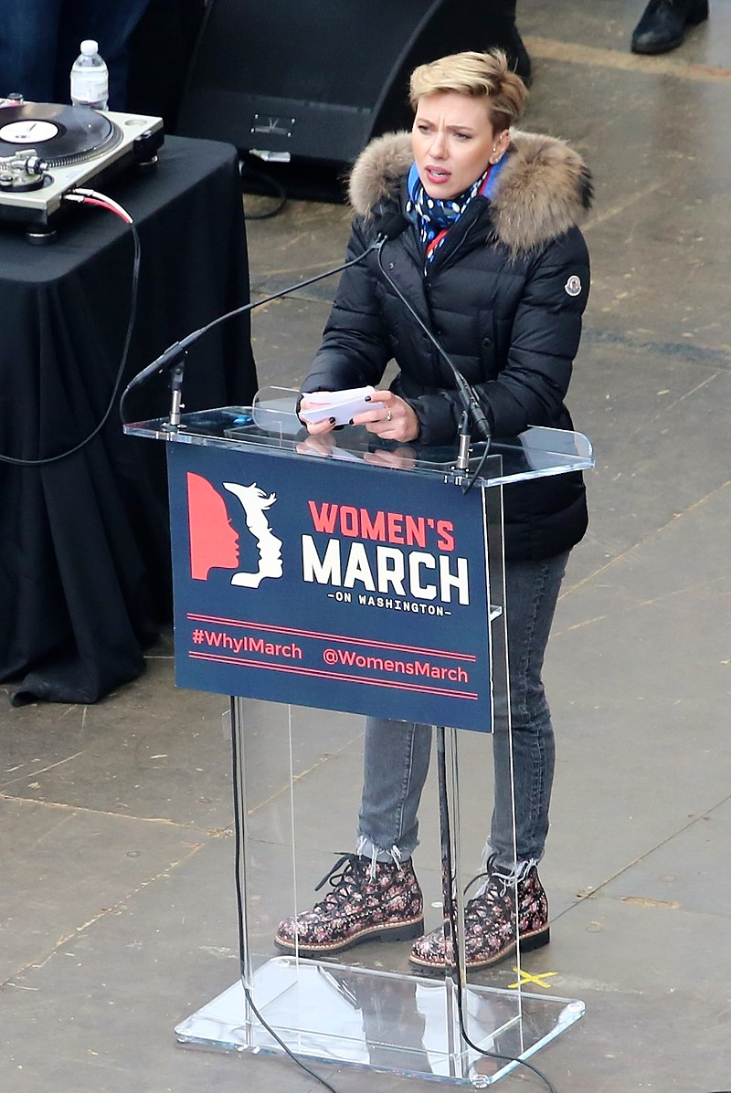 Scarlett Johansson at Women%27s March on Washington.jpg