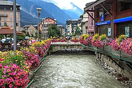 Scenes areound Chamonix - flower boxes along l'arve (10975864143).jpg