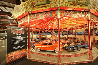 Barrett-Jackson - A full-size transportation-themed carousel manufactured by Wilhelm Hennecke of Germany in 1957 sold for $557,750 at the 2018 Scottsdale Auction.