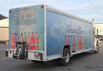 Seagram - Truck advertising the Seagram's Escapes brand of ready-to-drink alcoholic beverages