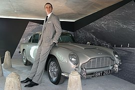 Sean Connery and a Aston Martin DB5.JPG