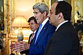 Secretary Kerry Addresses Reporters Before Trilateral Meeting in Paris With Foreign Ministers From Turkey and Qatar Focused on Reaching Cease-Fire in Gaza Strip (14562839289).jpg