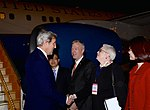 Secretary Kerry Is Greeted by Deputy Chief of Mission Sutton Upon Arrival in Hanoi (32148365721).jpg