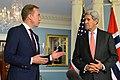 Secretary Kerry Listens as Norwegian Foreign Minister Brende Addresses Reporters in Washington (21719308403).jpg