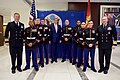 Secretary Kerry Poses for a Photo with Members of the Marine Security Guard at the U.S. Embassy in Kigali (30291686616).jpg