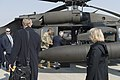 Secretary Tillerson and Gen. Brooks Board Helicopter at Osan Air Base en Route to the DMZ (33330299882).jpg