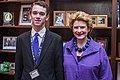 Senator Stabenow meets with a member of Junior State of America. (19506988498).jpg