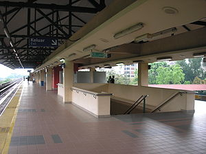 Setiawangsa LRT station - The platform level of Setiawangsa station, as viewed towards the southwest