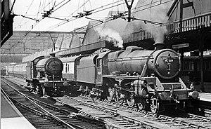 Sheffield Victoria railway station - Sheffield Victoria, as seen in 1957