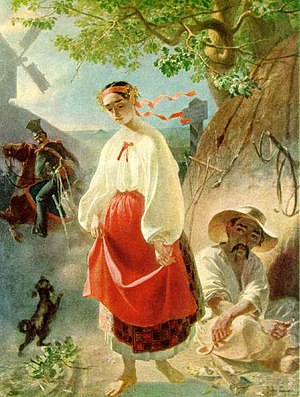 Serfdom in Russia - Kateryna, painting of a Ukrainian serf girl by Taras Shevchenko himself born a serf.