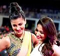 Shruti and Tamannaah Filmfare south 2013.jpg