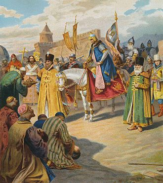 Ivan the Terrible - Ivan IV under the walls of Kazan by Pyotr Korovin