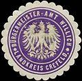 Siegelmarke Bürgermeister-Amt Willich Landkreis Krefeld W0383501.jpg