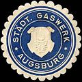Siegelmarke Städtisches Gaswerk - Augsburg W0240293.jpg