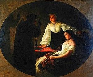 Saint Andrew's Day - Henryk Siemiradzki. St. Andrew's Night – Fortune-telling, 1867