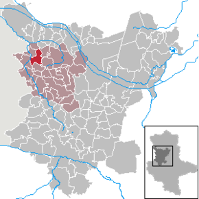 Location of Siestedt  within the Börde district