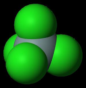 Silicon tetrachloride - Image: Silicon tetrachloride 3D vd W