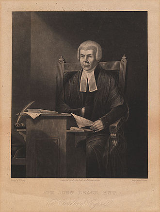Henry Dawe - Judge John Leach, engraving from 1825 after a painting by Charles Penny