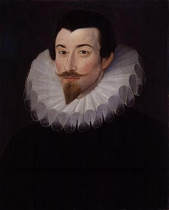 John Harington (writer) - Portrait by Hieronimo Custodis, c. 1590–93