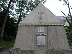 Mortlake - Sir Richard Burton's tomb at St Mary Magdalen's Roman Catholic Church cemetery