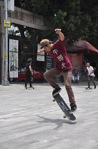 Ollie (skateboarding) - Image: Skateboarding at Mexico City Ollie 033