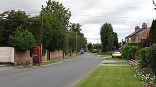 Langthorpe village in the United Kingdom