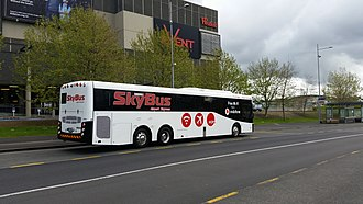 Skybus Super Shuttle - SkyBus bus at its terminus at the Westfield Albany mall