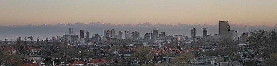 Skyline Rotterdam from Schiebroek cropped