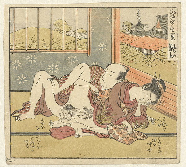 Shunga art, Japan, by Isoda Kôryûsai, ca. 1770 - 1775