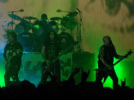 Slayer tijdens hun 'Unholy Alliance tour' in 2006