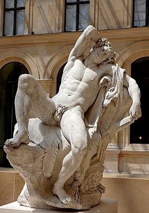 Barberini Faun - Copy by Edmé Bouchardon (Louvre)