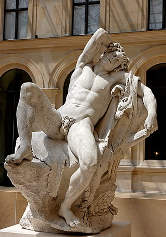 Barberini Faun - Copy by Edmé Bouchardon (Louvre)