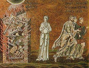 Deutsch: Die Zerstörung von Sodom (Mosaik)
