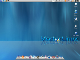 Рабочий стол VectorLinux SOHO 5.9 Deluxe Edition