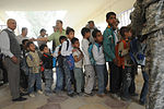 Soldiers, Iraqi national policemen distribute school supplies in Baghdad DVIDS157263.jpg
