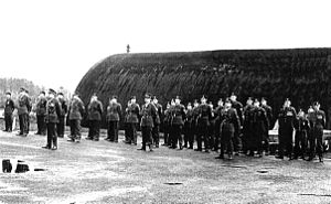 Ulster Defence Regiment - C Company, 1 UDR on parade at Steeple Camp, County Antrim, Remembrance Sunday 1970