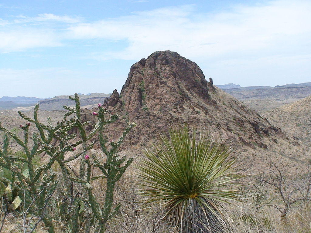 A photo of Solitario Peak in Big Bend Ranch State Park
