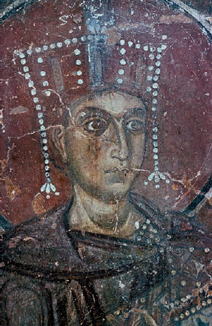 Cathedral of St. Sophia, Novgorod - An 11th-century fresco on the wall