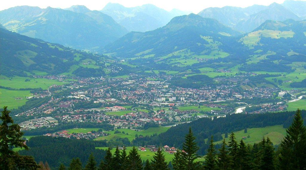 die südlichste Stadt Deutschlands Sonthofen von oben