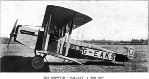 Sopwith Wallaby - Sopwith Wallaby G-EAKS, side view