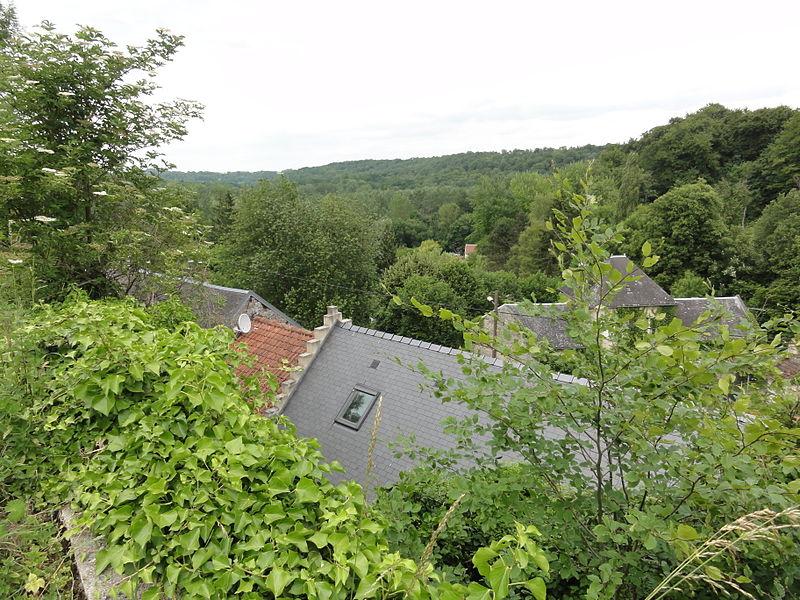 Soucy (Aisne) vue sur le bas du village