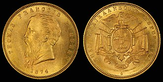 Coins of the South African pound - Image: South Africa 1874 One Pond