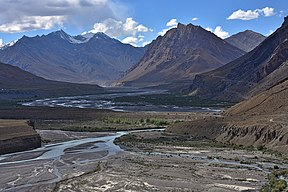 Spiti River upstream of Kaza