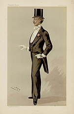 A man in complete formal evening dress