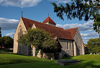 Godmersham village in United Kingdom