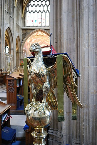 Eagle lectern - Eagle lectern at St Mary Redcliffe, Bristol, England